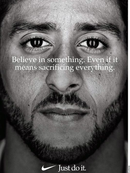 Nike's Advertisement feating Colin Kaepernick.