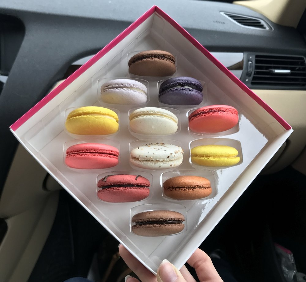 This is what the macarons looked like inside the box