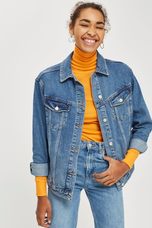 Topshop MOTO Oversized Denim Jacket, $90