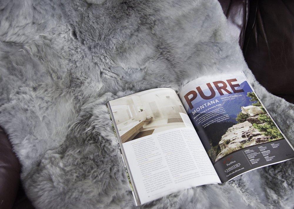 Hua Fur Throw, fur blanket in Light Gray