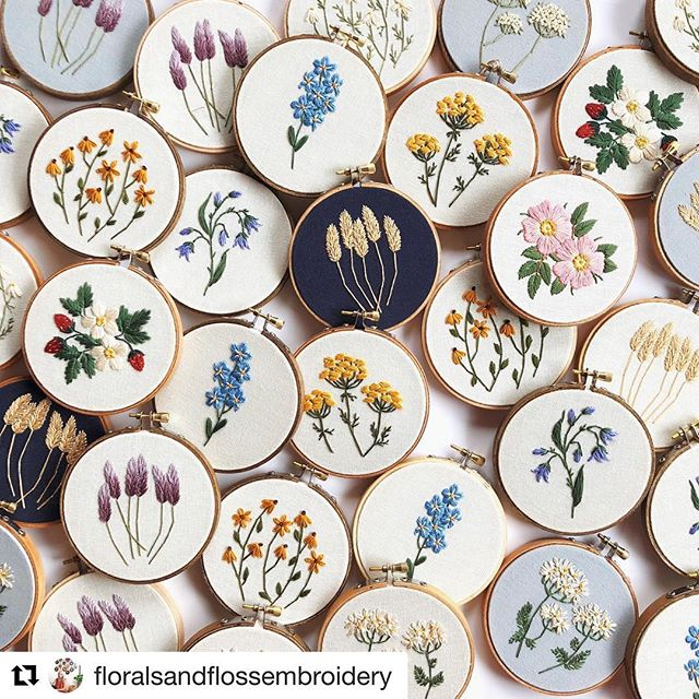 #Repost @floralsandflossembroidery with @get_repost ・・・ Alberta wildflowers! I've been working on these buddies since the summer- when there wasn't snow on the ground, and actual forget me nots and wild roses were in bloom. 🌸 Most of these are coming with me to @theroyalbison but for all you non-locals I am planning a big Etsy shop update on November 15th! I'll be listing wildflowers, ornaments, and kits! Hopefully kids kits and ornament kits too (if I get an early Christmas miracle) 🎄