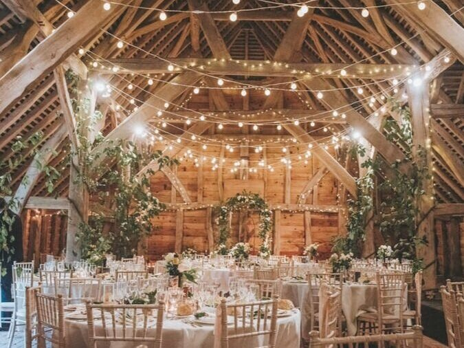 Gildings barn - One of the most sought after barn venues in the South of the Country. Exquisite both iniside and out with a wonderfully intimate feel.