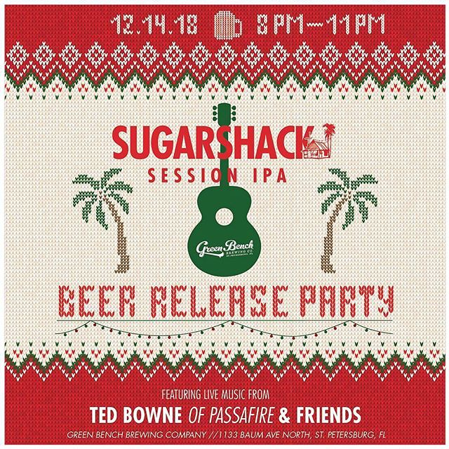 Headed downtown to jam with @tedlington of @passafire @kennybongos and friends for the @sugarshacksessions #BeerReleaseParty at @greenbenchbrewing! 🍻