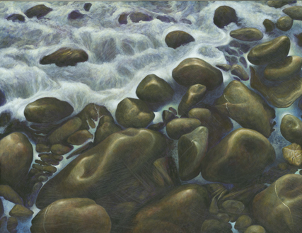 Ocean on Rocks - Copyright Protected by Stephen Lawrie