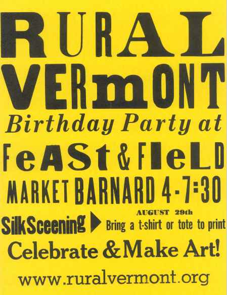 Upcoming Events — Rural Vermont