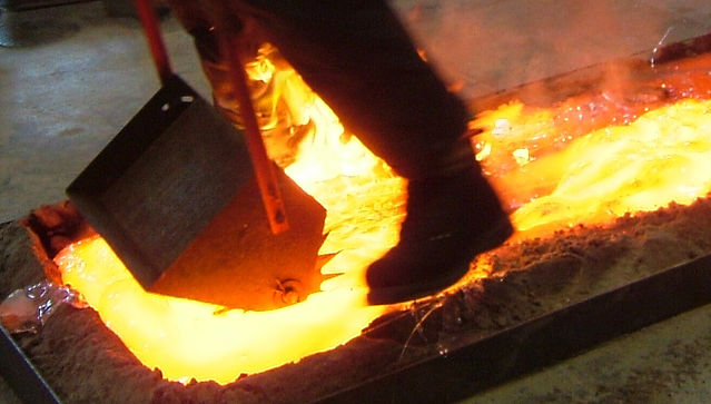 Walking on molten glass