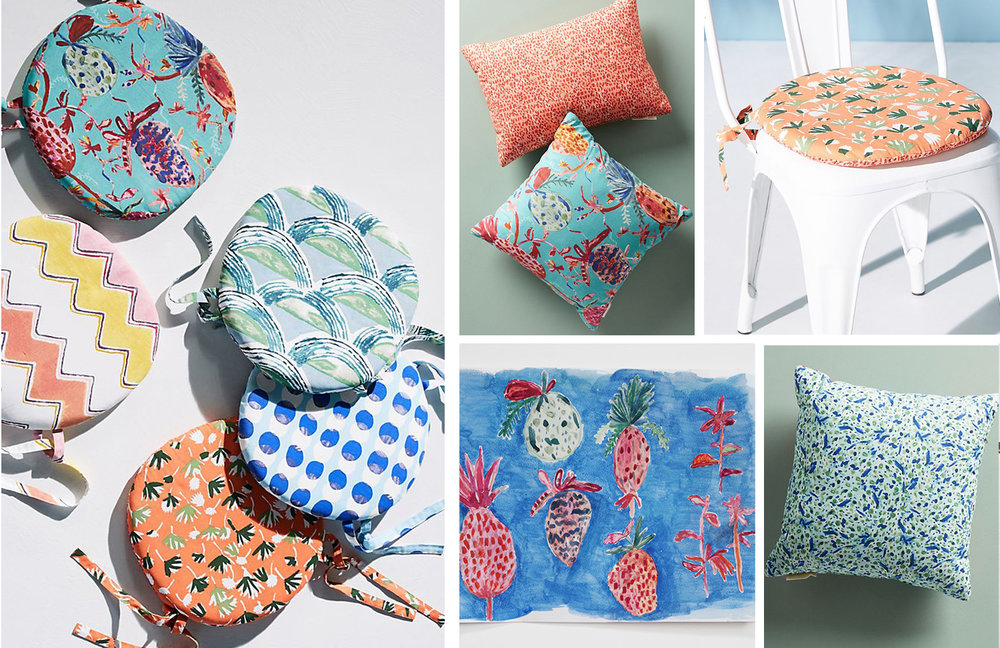 Anthropologie Home - Topanga Outdoor Pillows - Summer 2018