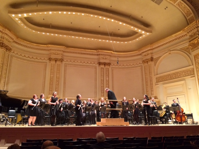 UCM Wind Ensemble at Carnegie Hall