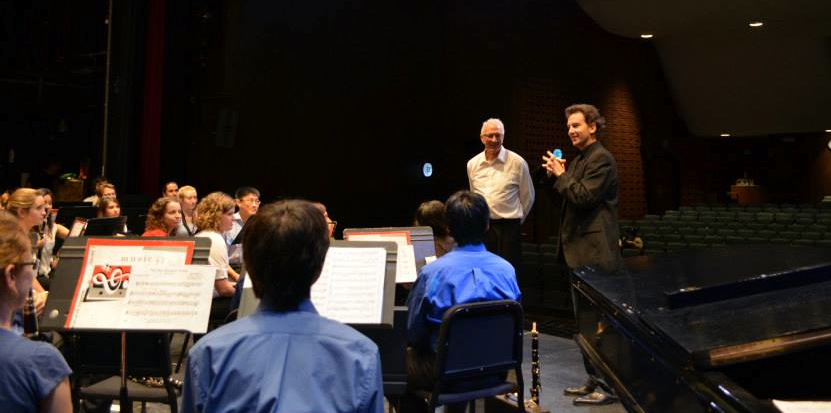 John with the UCSB Wind Ensemble in 2013.