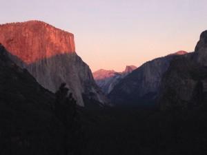 Yosemite Valley at Sunset.