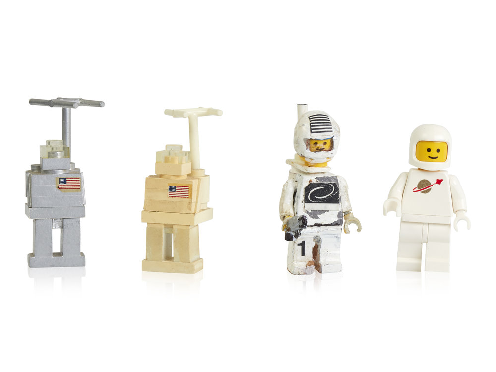 Early prototypes and first space minifigure.jpg