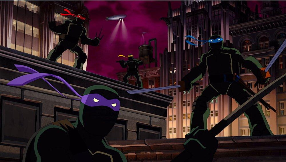 Batman-TMNT Turtles rooftop.jpg