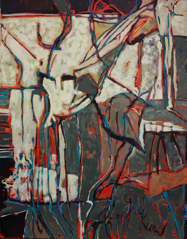 "untitled #3. 2010  oil on canvas   62"" x 47"""