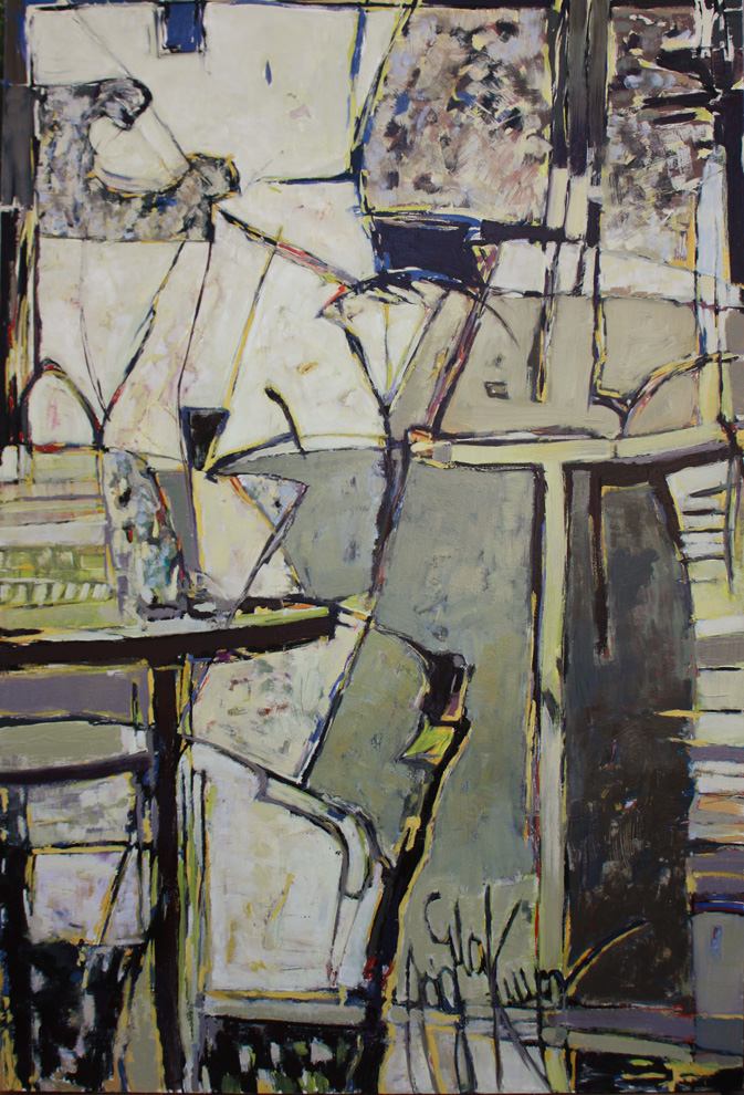 "untitled #5    2010  oil on canvas  72"" x 49"""