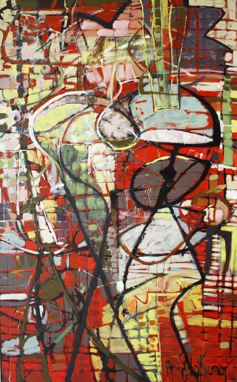 "untitled #12    2012  oil on canvas  78"" x 48"""