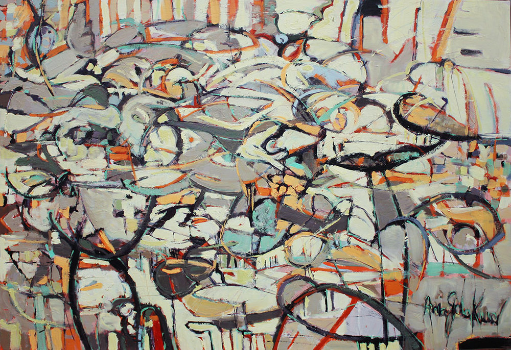 "untitled #14   2013  oil on canvas  48"" x 72"""