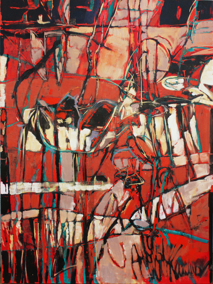 "untitled #2    2010  oil on canvas  60"" x 45"""
