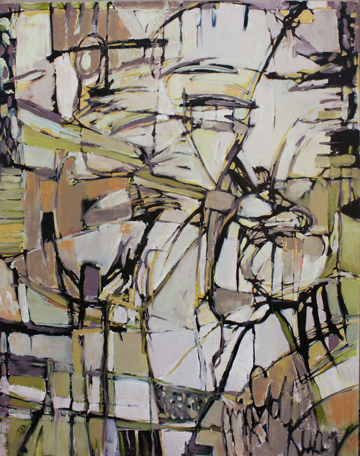 "UNTITLED #1    2010  oil on canvas  60"" x 48"""