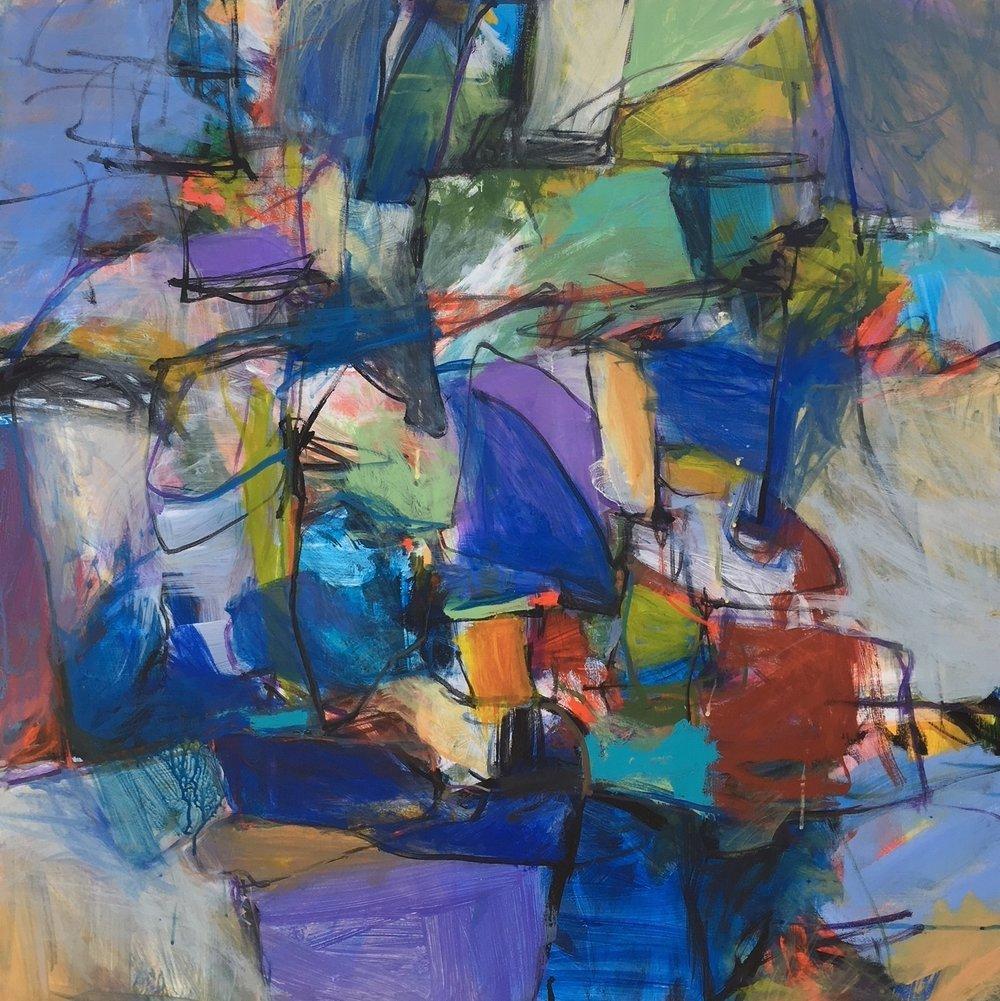 "Nightfall   acrylic/canvas  36 x 36"""