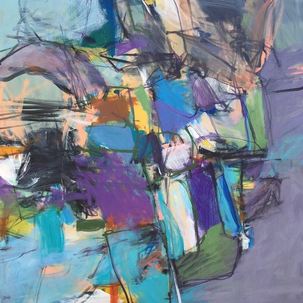 """Mother Ship""  acrylic on canvas 40 x 40"