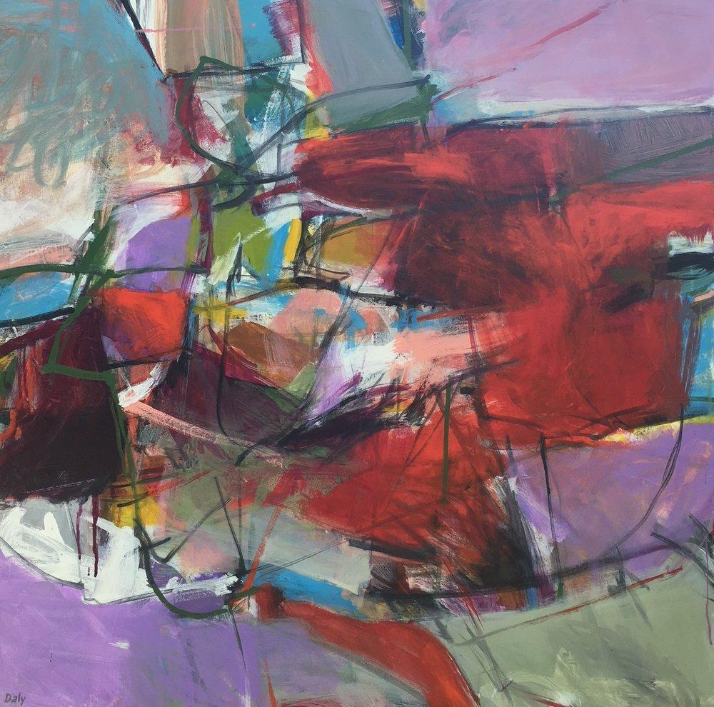 """Talisman""  acrylic on canvas 36 x 36"""