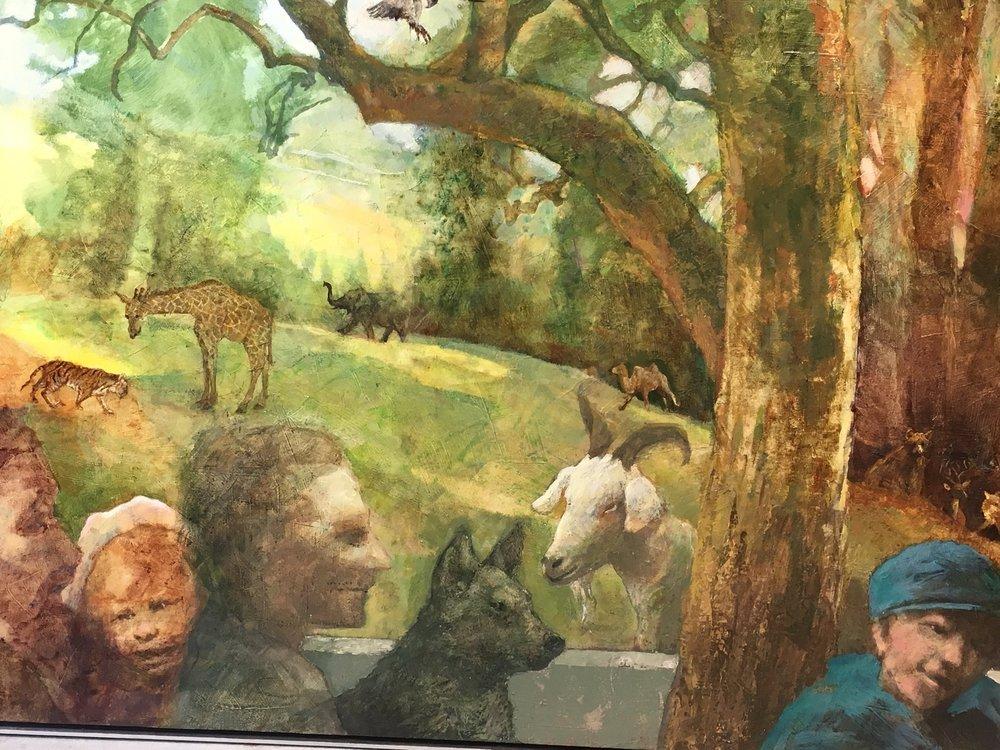 """""""The Verandah"""" 53"""" x 61"""" by Frank Sampson acrylic on canvas"""