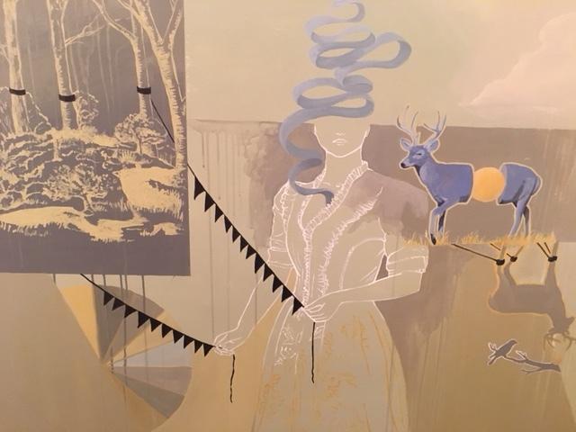 """acrylic, water soluble oil, Gouache on canvas  42"""" x 60"""""""