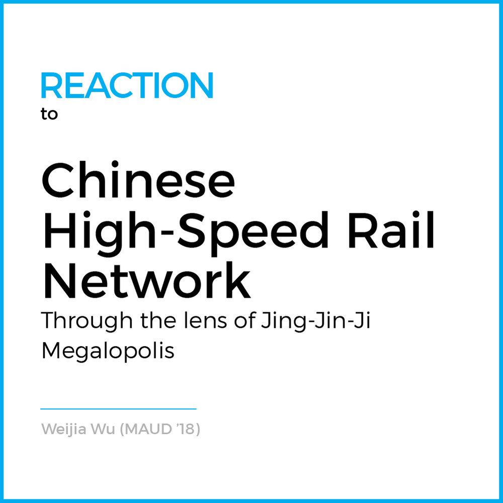 """Speed replaces distance"". Currently in China, High-Speed Rail is not only a new mode of transport that links cities and regions together but it is also catalyzing a new scope of urbanization.... (R ead More )"
