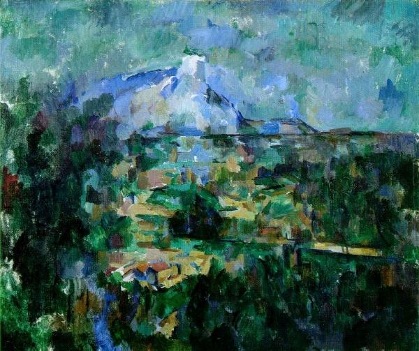 """Paul  Cézanne:  """"Mount Sainte-Victoire view from Lauves"""""""