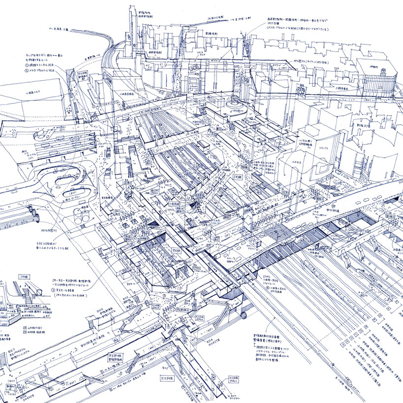 Meik Design [http://www.meik.jp/profile.html] - Tokyo has been cultivating its borderless urbanism with one of the most intensive railway networks in the world. I believe that Tokyo's model of transit-oriented development (TOD) associated with this railway network will remain essential in the future not only as the role model for developing countries, but also as Tokyo's leading force in competition with other international cities.In 1920, Tokyo's railway infrastructure expanded rapidly in response to motorization. It is now composed of 158 railway lines and 882 stations owned by 48 public and private companies1, which enables 85% of commuters to use the public transit system.2 Putting this in a global context, three stations in Tokyo dominate the top 3 rankings of the world's busiest stations.3 This clearly shows that Tokyo's train stations accommodate and are an essential part of its urban activities.Several backgrounds must be covered first to understand this situation. Railway networks in Japan didn't historically possess state power until the 1920s post World War I, where railway developments began to strengthen their industrial and military transportation capacity . At that moment, railways represented the accomplishment of Japanese modernization and the power associated with the new government. However, after the devastation of World War II, GHQ / SCAP (Supreme Commander for the Allied Powers), which controlled the allied occupation of Japan, transformed the national railway company into a semi‐governmental corporation that weakened the power of the Japanese government.4 This new power arrangement, which removed embodied state power, enabled the train stations to become urban spaces. As a result, great train stations, which can sometimes become too monumental in the urban fabric, have become hubs for vibrant civic activities.In addition, although they possess public character, TODs (railway + real estate development) have been one of the most prominent business models for profit-seeking capitalists.5 In the 1910s to 1930s, Ichizo Kobayashi funded a railway and real estate developer company in the western part of Japan where, in this business model, the developer purchased more land than they needed just for railroads, and constructed retail centers and housing around the stations.6 When this rail was connected to the retail center, the stations worked as hubs to stimulate more substantial housing development around these sites, while simultaneously producing long-term profits for the railway company. The success of this business model drove other players to enter this field thereby enabling public-private partnerships that allowed a building of comprehensive plans to distribute a network of supported urban growth.Lastly, the train stations, especially Japan Railway East after the 2000s, expanded their business into more diverse industries, such as commercial, hotel, museums and nursery rooms, to make people stay longer within their parcel or even within the ticket gated area.7 For example, at Tokyo station, Japan Railway East incrementally expanded the ticket-gated area to accommodate restaurants and retail to serve the need of its transit passengers. This scheme has been criticized because it has weakened the surrounding retail clusters; however, this business model undoubtedly attracts considerable patronage and provides urban amenity hubs.Within its historic & capitalistic context, TODs in Japan works as a hub or a network to stitch urban sprawl together, rather than a boundary that segregates it. This railway