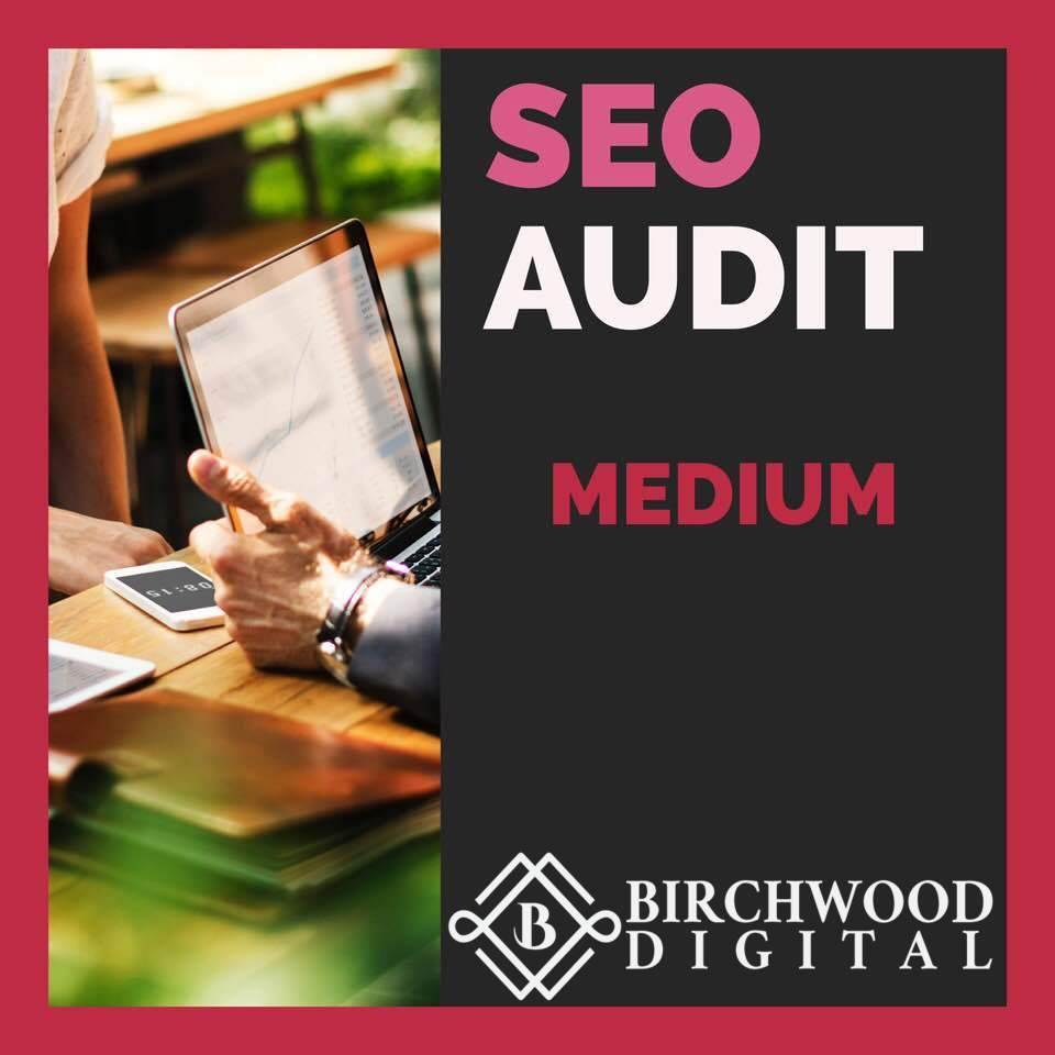 MEDIUM SEO AUDIT - Get a comprehensive SEO audit for a site with under 5,000 pages indexed, to see current index type the following into Google: site:nameofsite.com and look at number of results.