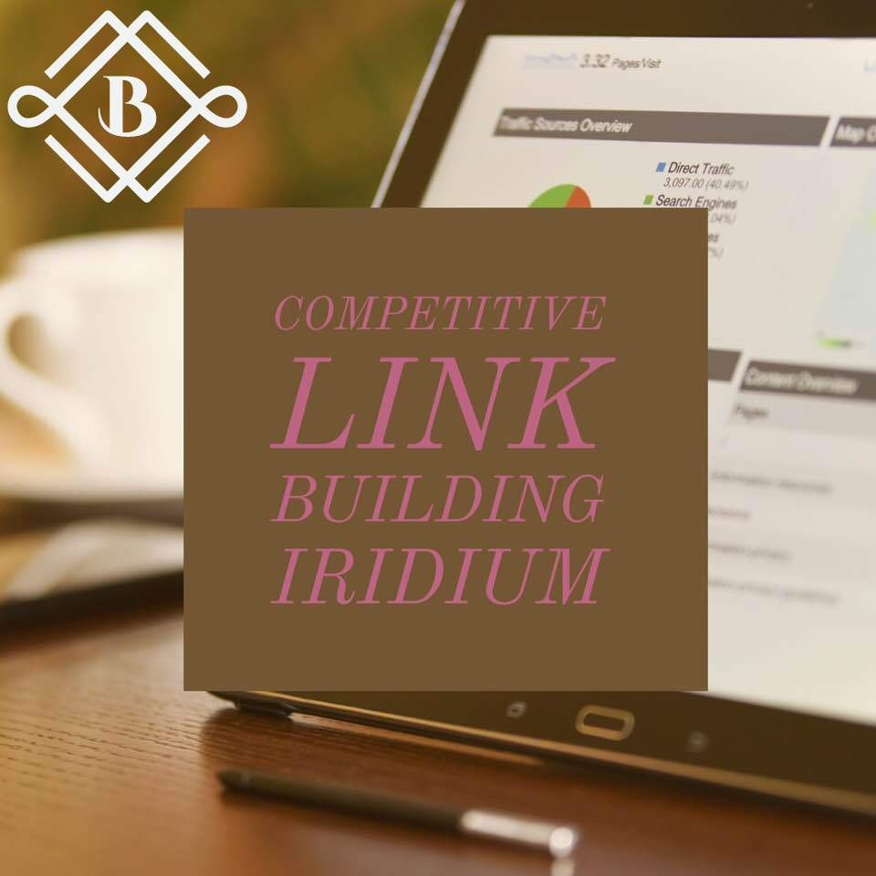 Competitive Link building: Iridium - Some Jobs are Tougher than Other That's What the Iriduim Package is ForLeave the job to a professional agency to examine what your website needs the most, whether that's social profiles, business citations, press releases, or clean media links and guest posting to determine what your business needs the most for the best improvements in your rankings!