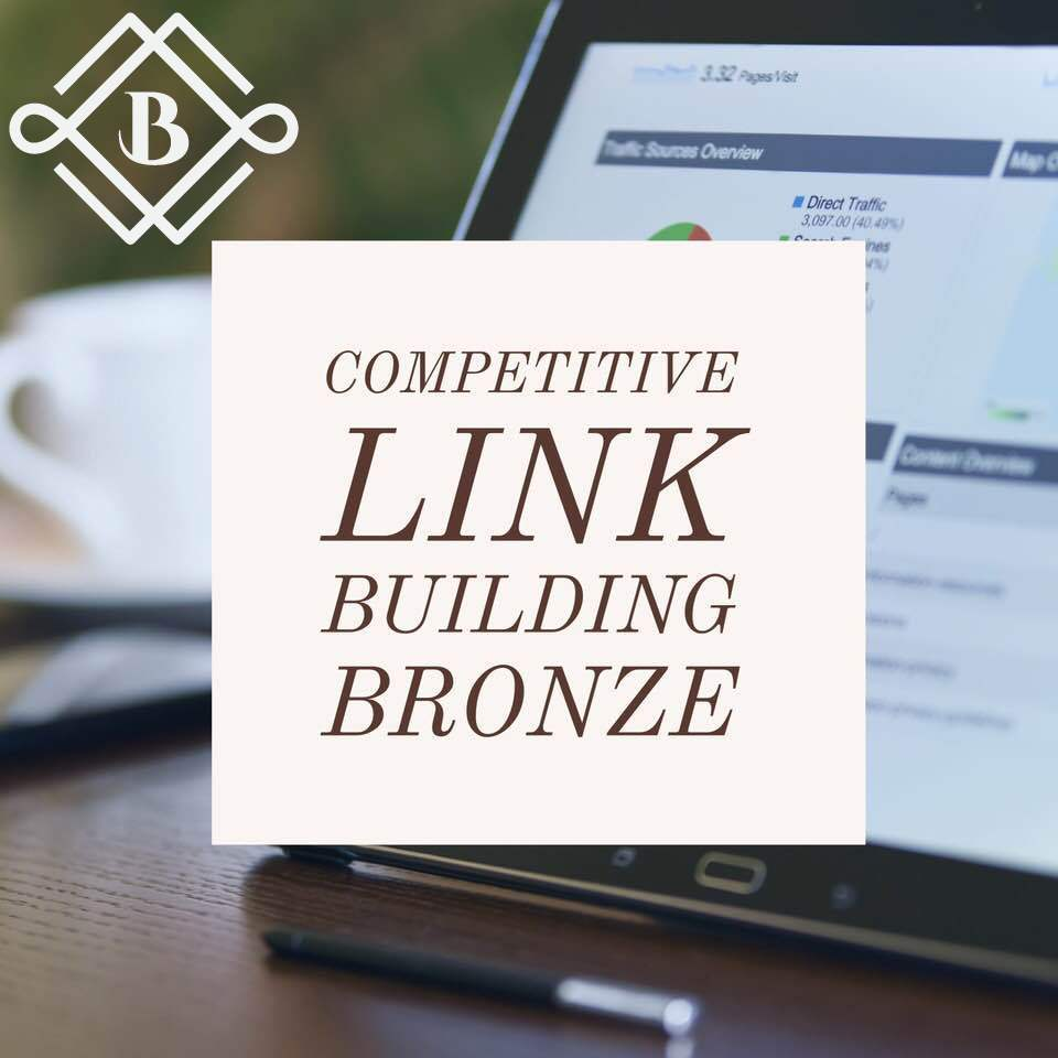 competitive link building: Bronze - Leave the job to a professional agency to examine what your website needs the most, whether that's social profiles, business citations, press releases, or clean media links and guest posting to determine what your business needs the most for the best improvements in your rankings!.