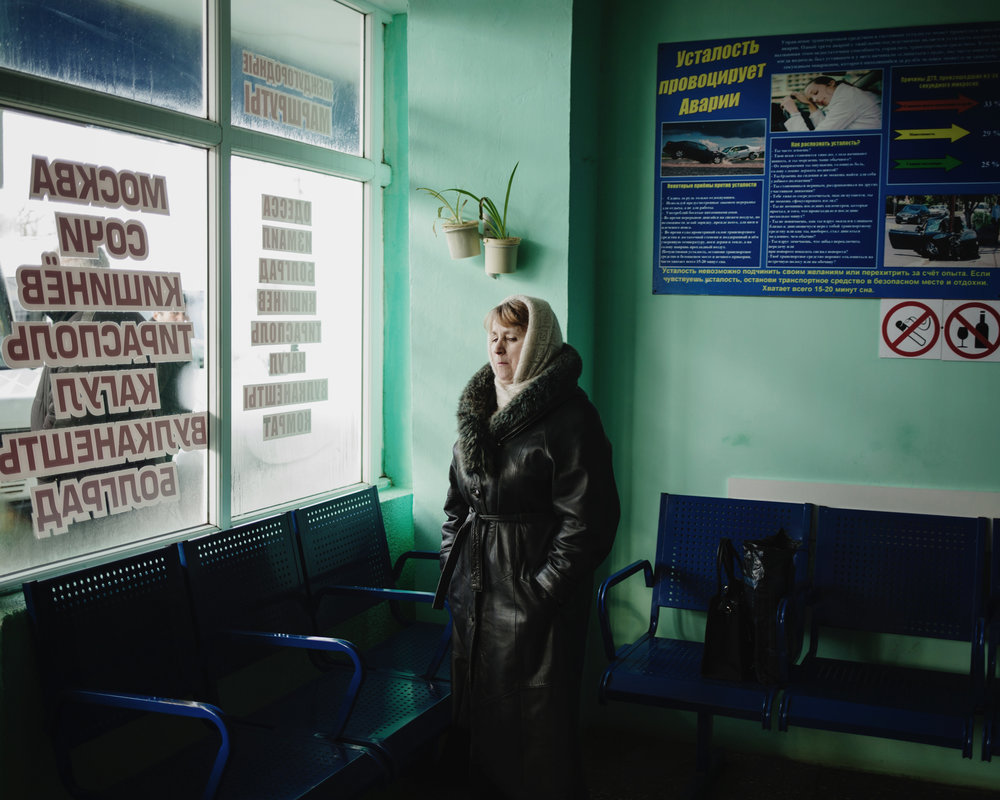Ceadir-Lunga - In the main bus station where buses leave to Moldova, Russia, Transnistria, etc