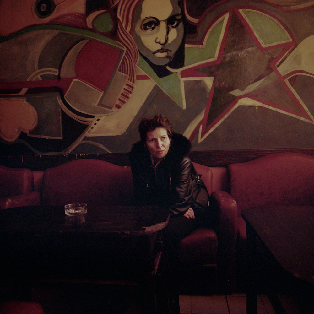 In the Niki Bar, a woman who lives on the other bank of the Danube came to drink a coffee.