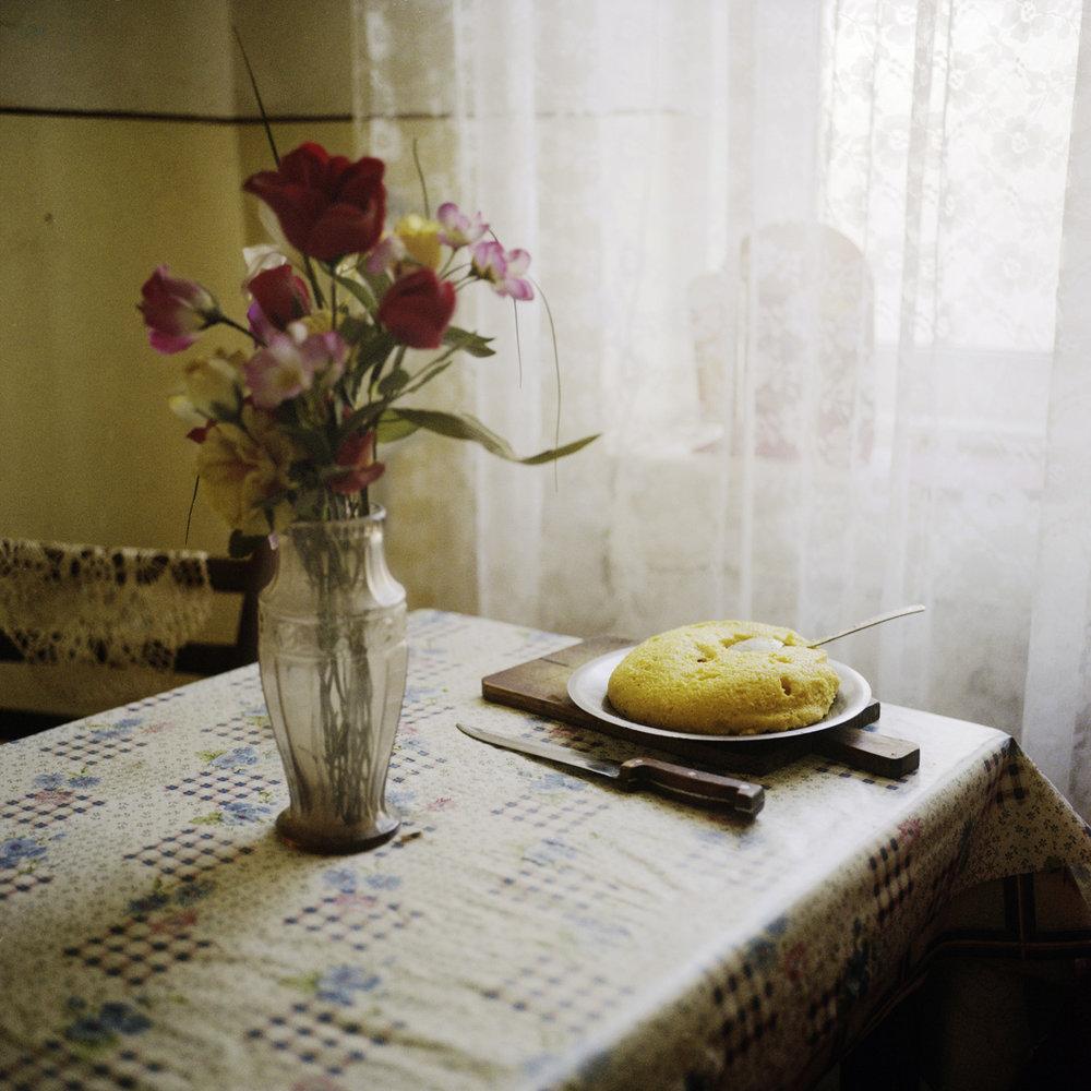 Mamaliga, the traditional dish in Romania
