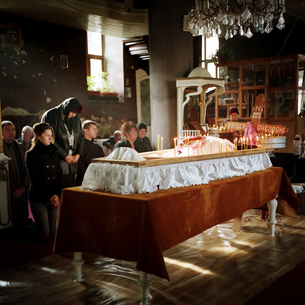 A funeral in one of the orthodox churches of Sulina