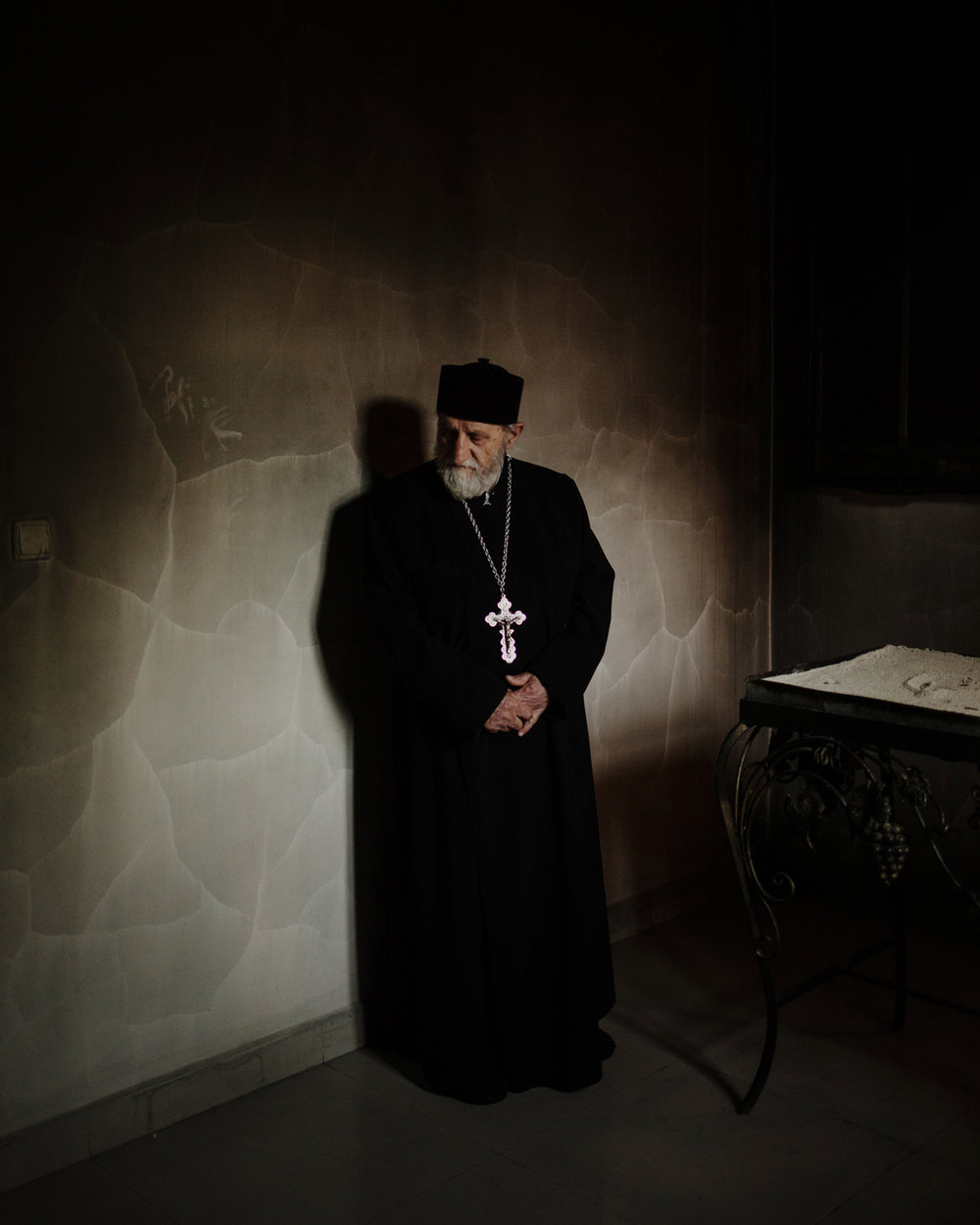 The priest of the Armenian church of Akhalkalaki, a town mainly inhabited by Armenians.