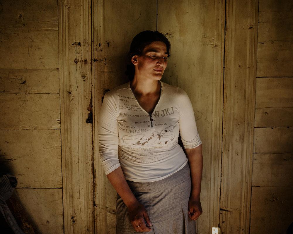 Ghorjomi. An Adjarian woman in her house.