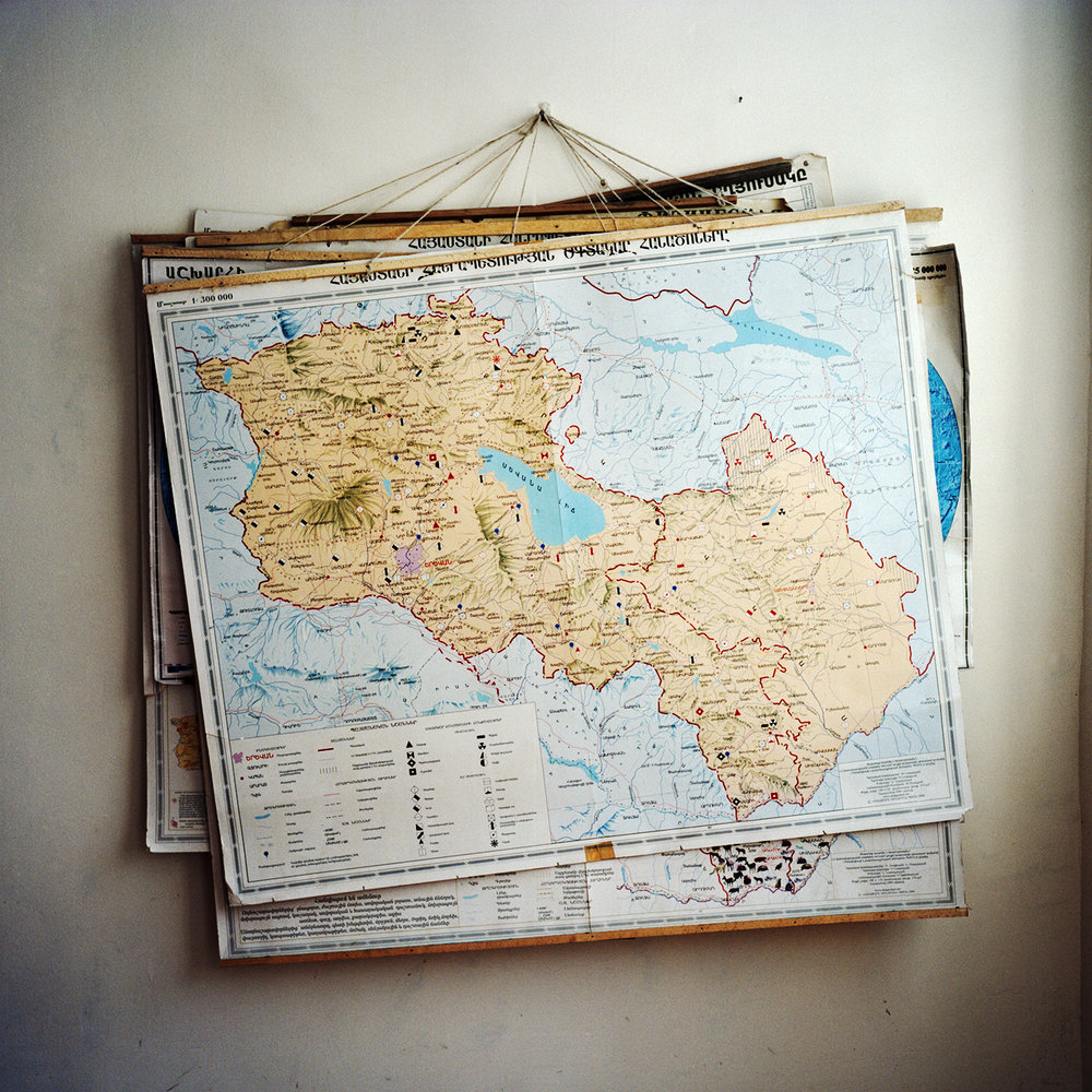 A map of Armenia and Nagorno-Karabagh in the Moshatagh school
