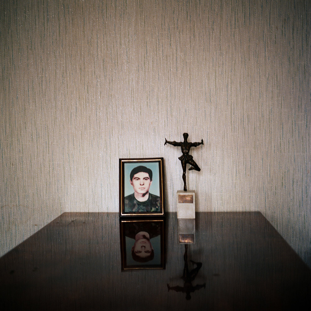 Picture of a soldier, a georgian from Abkhazia, in the apartment of his father who lives now in Rustavi, a city in Tbilissi suburb. He died during the fight against the Abkhazs during the war between Abkhazia and Georgia.