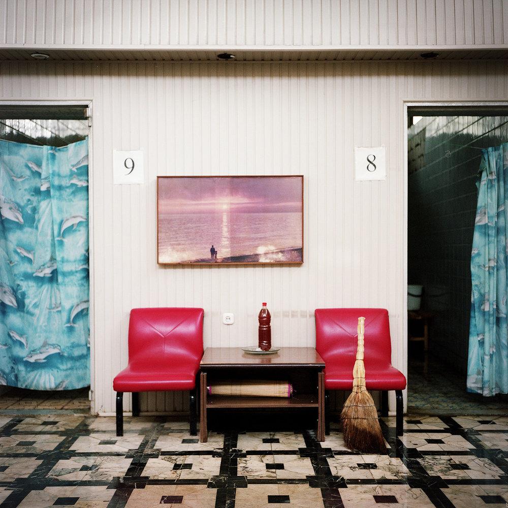 Bathes in a sanatorium in Gagra.