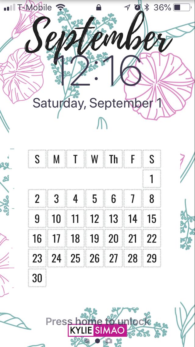 Hello September 2018 Freebie Iphone Wallpaper Kylie Simao