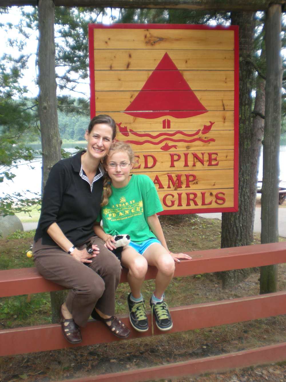 Red Pine Camp with my daughter