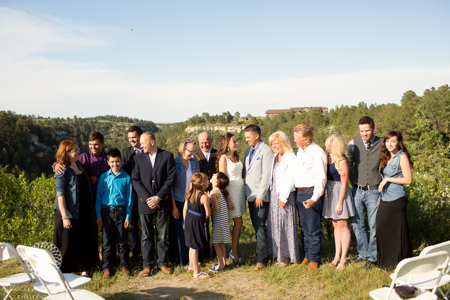 The newly-weds and their guests.