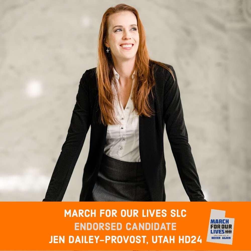 JEN DAILEY-PROVOST (D)    GRADE: A+   Utah House District 24  www.jenforutah.com