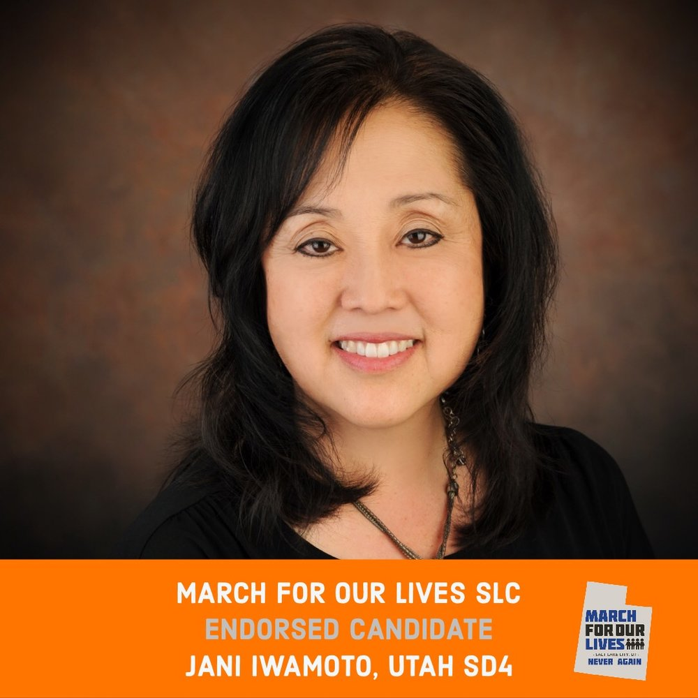JANI IWAMOTO (D)    GRADE: A+   Utah Senate District 4  www.votejani.com