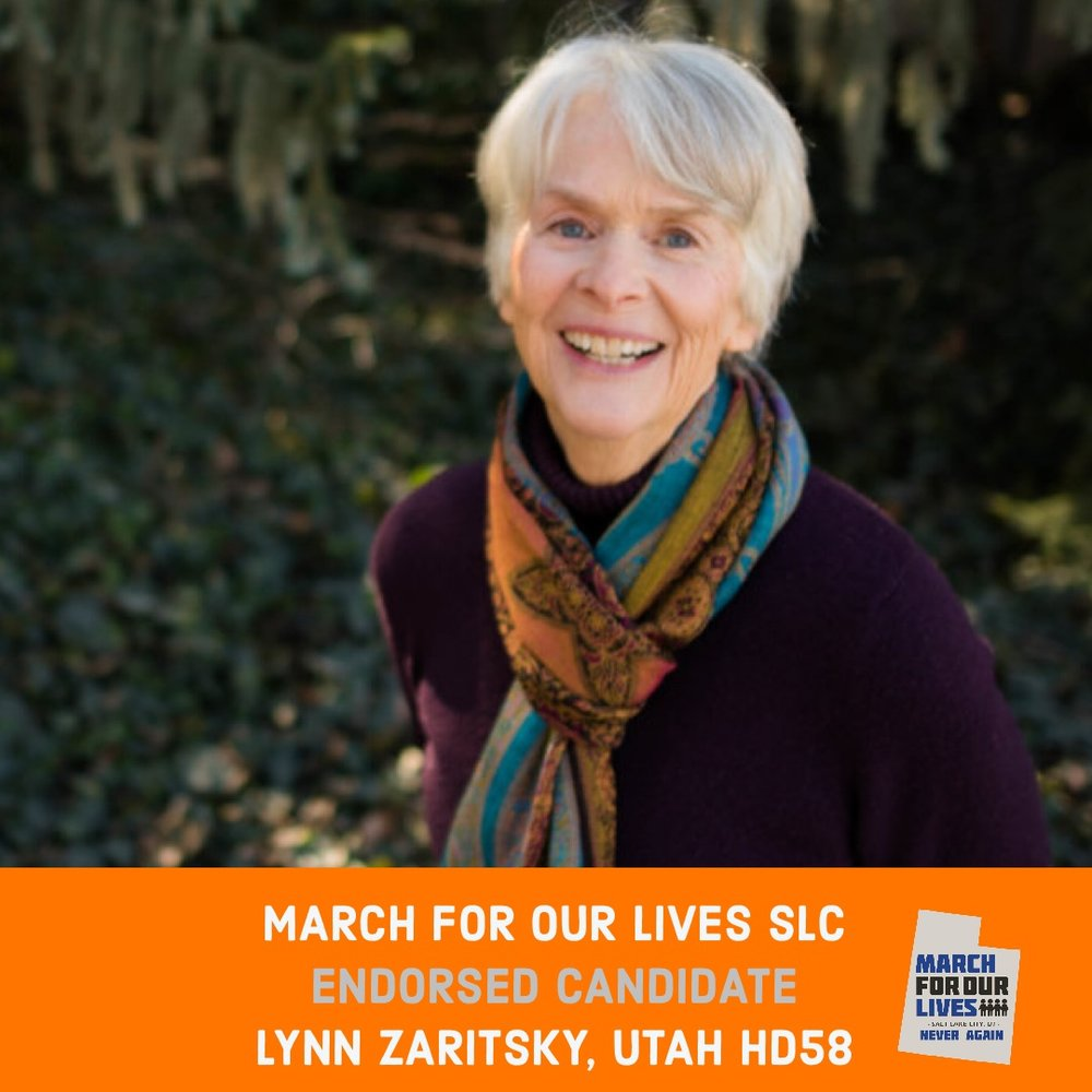 LYNN ZARITSKY (D)    GRADE: A+   Utah House District 58  www.votelynnzaritsky.com