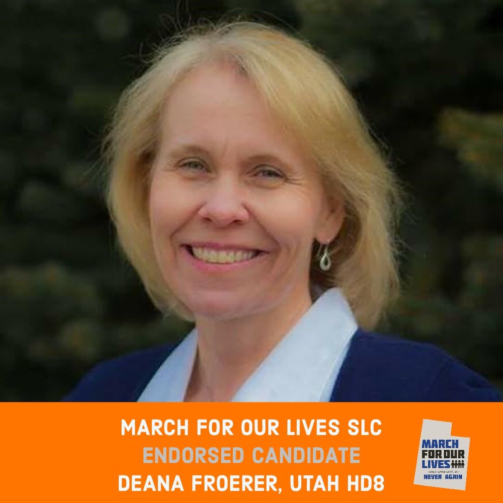DEANA FROERER (D)    GRADE: B   Utah House District 8  www.froerer4house.com