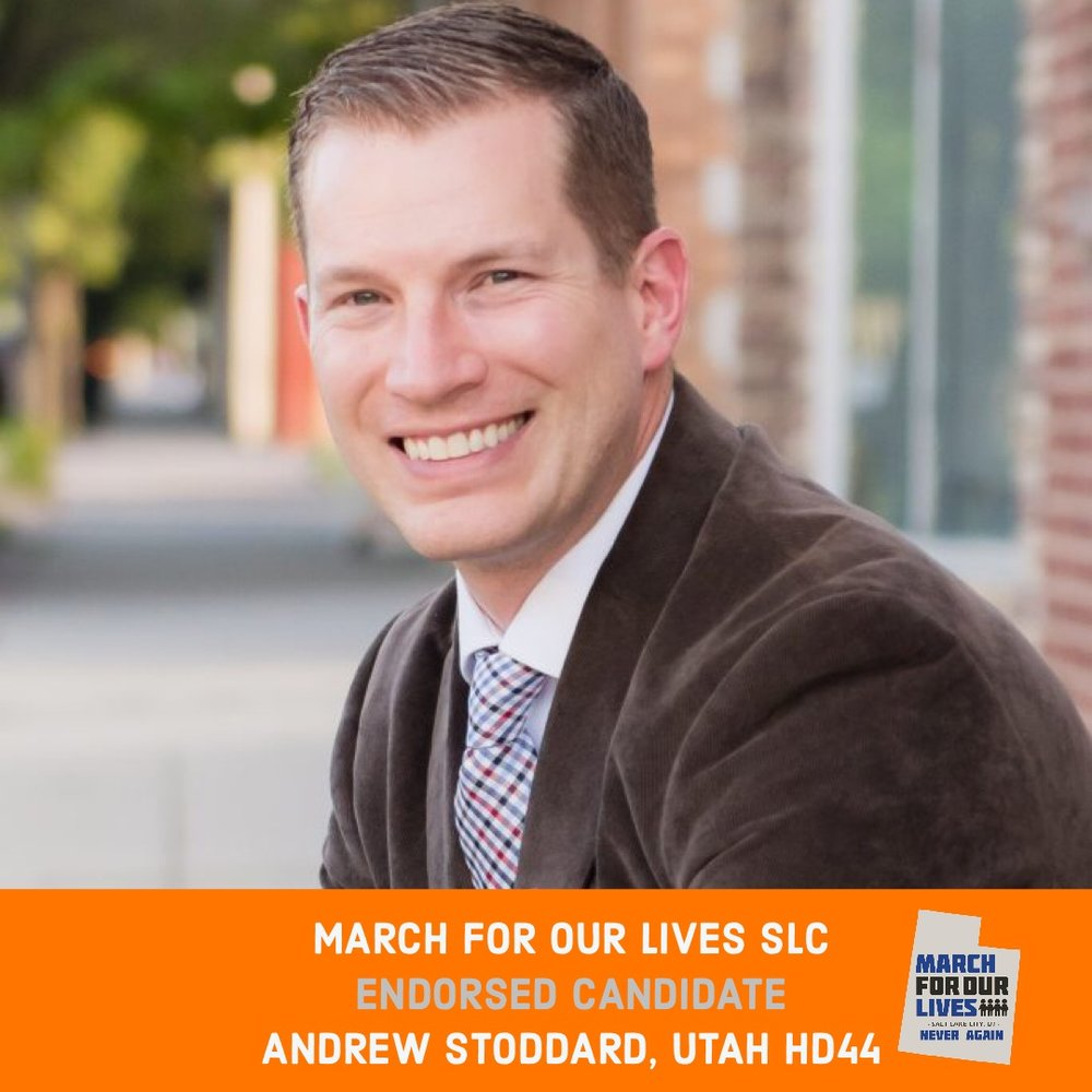 ANDREW STODDARD (D)    GRADE: A+   Utah House District 44  www.voteandrewstoddard.com